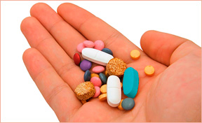 The colors of medications - capsules &  tablets