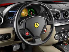 User Interface on a Ferrari dashboard