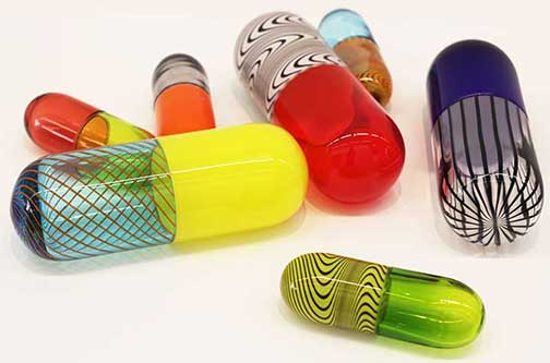 pills glass 504